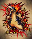 Typhlosion Tattoo Commission by RetkiKosmos