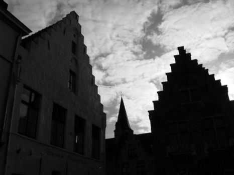 Brugge under usual clouds by eloyimpressions