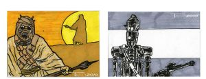 sand people and IG88 by TomKellyART