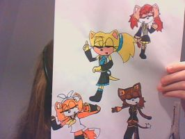 My Fancharacters as Vocaloids by KiwiRabbit