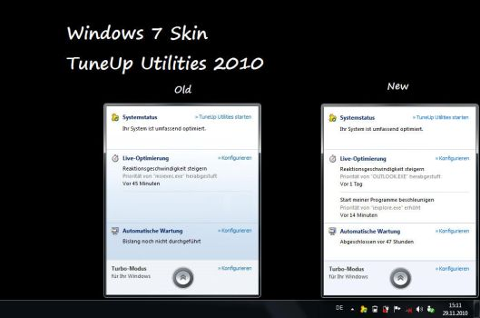Win7 skin for TuneUp Utilities by xjannikx