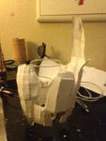 Halo 3 Spartan costume Left bicep WIP 1 by W4RH0US3