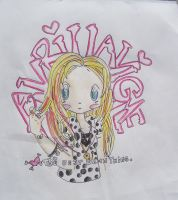 avril lavigne BEST DAMN heart by Arriana-corr