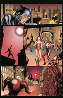 Coloring - Catwoman, Poison Ivy and  Harley Quinn. by andreranulfo