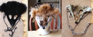 New masks - 4-2-12 by lupagreenwolf