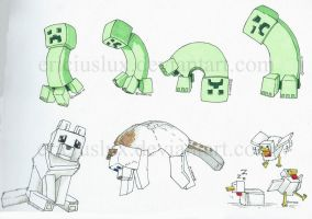 Minecraft things! by EriciusLux