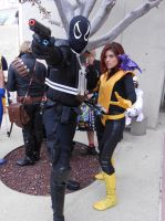 Agent Venom w/ Kitty Pryde and Lockheed by pa68