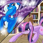 Twilight Sparkle vs. The Great and Powerful trixie by AskHeroicHamburger