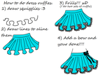 How to Draw A School Girl Skirt by Kandi-2