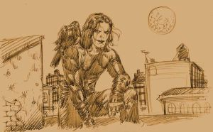 The Crow Sketch 2 by edtadeo