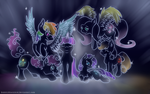 The Stars at Night by BubblyBlackbird