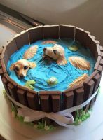 Golden Retriever Cake by GamerGirl84244