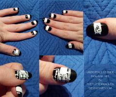 UNDERTALE: Lesser Dog Nail Art by TheFutterwacken
