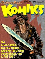 Retro Style Komiks cover by polidread