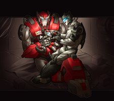 Commission - Darthneko - Family by shibara-draws-mecha