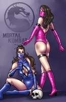 Kitana and Mileena by Salamandra88