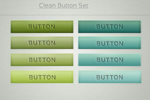 Silk and Clean Web Buttons by jnetlakni