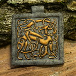 Celtic Twining Dogs Pendant by phacelia