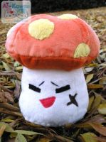MS Cynical Orange Mushroom Plushie by LiLMoon