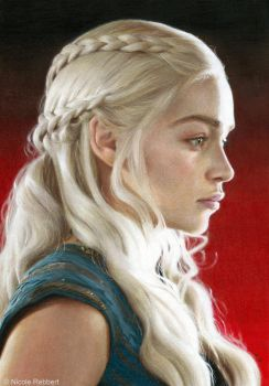 Daenerys (drawing) by Quelchii
