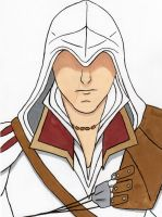 Ezio Sketch Coloured by MangakaBen
