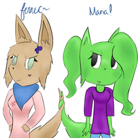 Maria and Fennec by SunPendantPonyChan