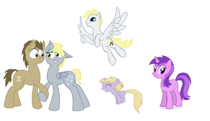 Derpy's family by LuckyPegasi