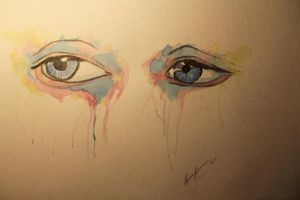 eye painting no.2 - watercolor by LucaHennig