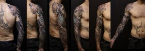 Tatoo full Sleeve japanese by Khalaiiss