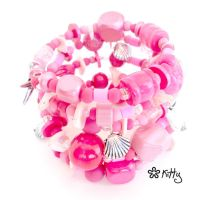 _Pinkshell bracalet by kitica