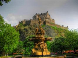 Edinburgh castle HDR by 7ero