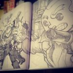 sketchbooking in the night by yorko