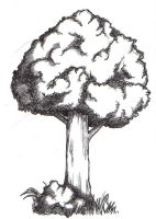 My very first tree drawing by xombiethewhimsical
