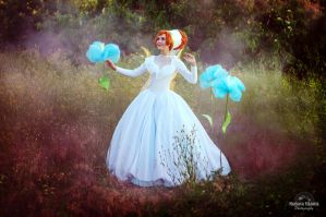 Thumbelina , Wedding Dress by QWER93