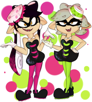 Squid Sisters by gonenannurs