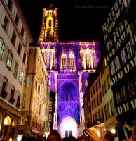 Illuminations of Strasbourg Cathedral - July 2012 by Cloudwhisperer67