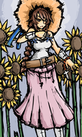 Sunflower Lady by Endless-warr