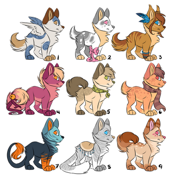 Puppy adoptables [CLOSED] by Kamirah