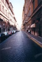 Endless road in Rome by mike-zephyr