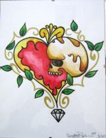 Skull and heart by IAteAllMyPaste