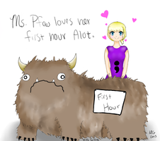 Ms. Pfau and Her Alot by AceTrainerMissy