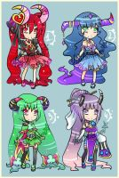 Poker Card Monster girls - CLOSED(3USD) by VanileCream