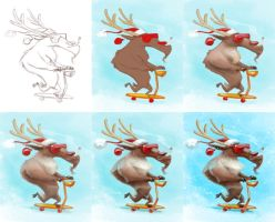 Xmas2013 - Painting Sequence by JoseAlvesSilva