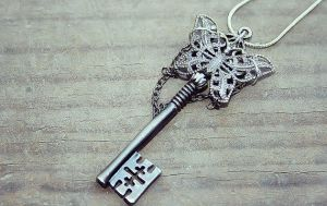 Gunmetal Butterfly Key by MythicalFolk
