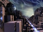 Old city on Xenon54 by syrius6