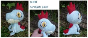Feraligatr plushie for sugarstitch by SilkenCat