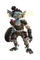 Pathfinder Blue Goblin by mscorley