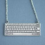 Computer Keyboard Necklace by foowahu-etsy