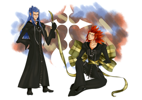 Khxmas: Saix and Axel by ponytaline