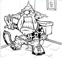 in pain clown by greatbubba